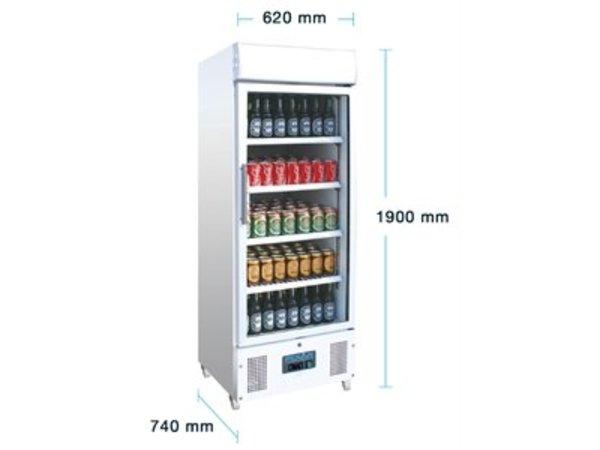 Polar Display Koelkast met glazen deur - 336 Liter - 62x57x(h)190cm