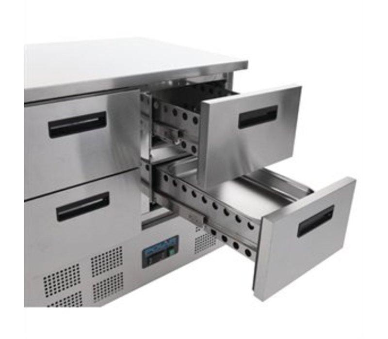Polar Koelwerkbank - RVS - 4 laden - 90x70x(h)85cm