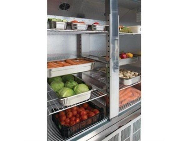 Polar Slimline Edelstahl Catering Kühlschrank Doppel Pro - 960 Liter - 134x70x (h) 200cm