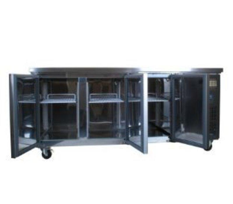 Horeca rvs koelwerkbank kopen polar gag597 5 xxlhoreca for Rvs ladenblok op wielen