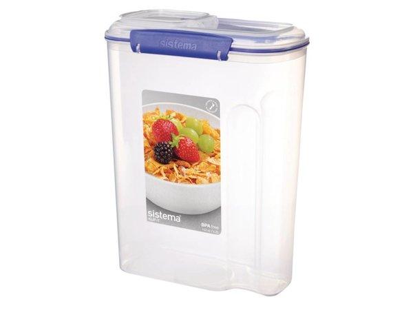 XXLselect Clip-it Cereals | Stackable | 22x11,5x (H) 28,8cm | 4.2 Liter