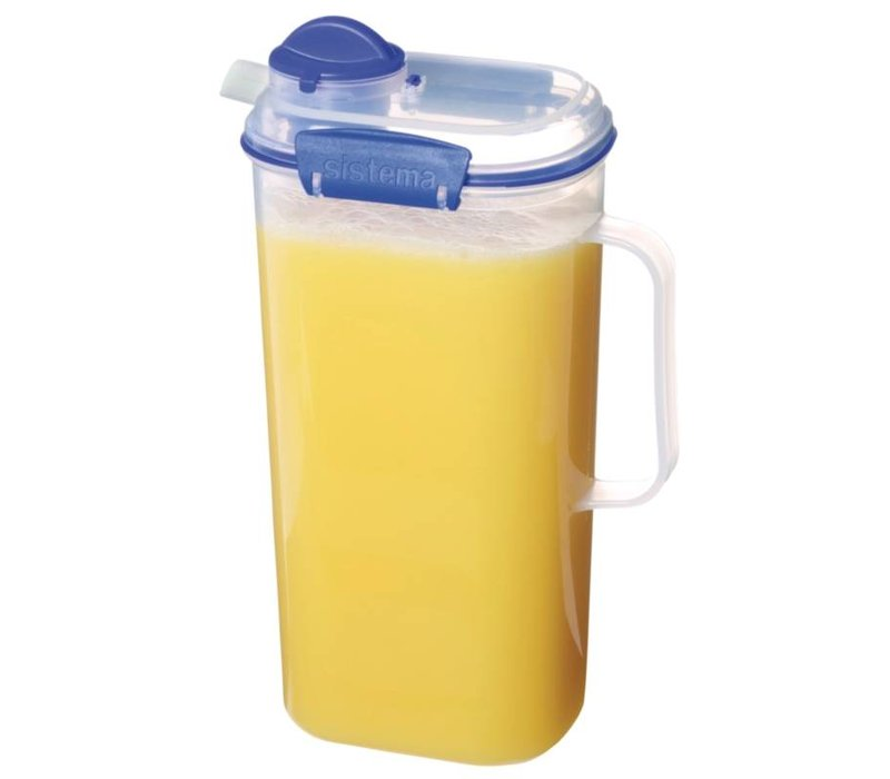 XXLselect Klip-It Juice jug | Stackable | 17x11x27,5cm | 2 Liter