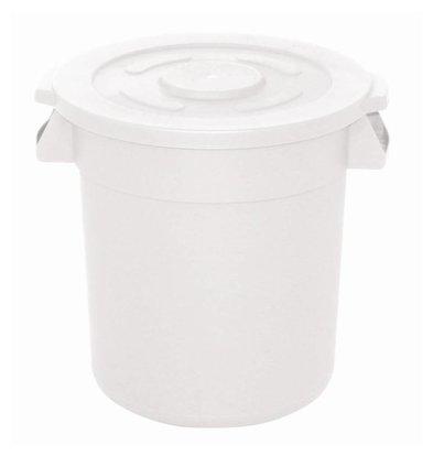 XXLselect Vogue weißen runden Lizenz Container | Ø49,2x (H) 58,4cm | 76 Liter