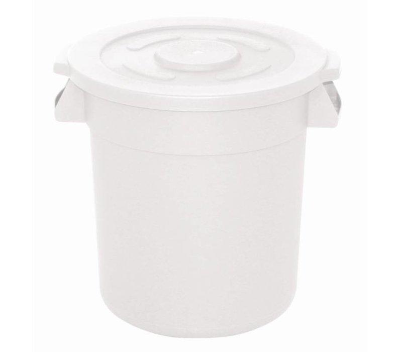 XXLselect Vogue white round Stock Container | Ø49,2x (H) 58,4cm | 76 Liter