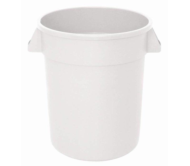 XXLselect Vogue weißen runden Lizenz Container   Ø39,8x (H) 43,4cm   38 Liter