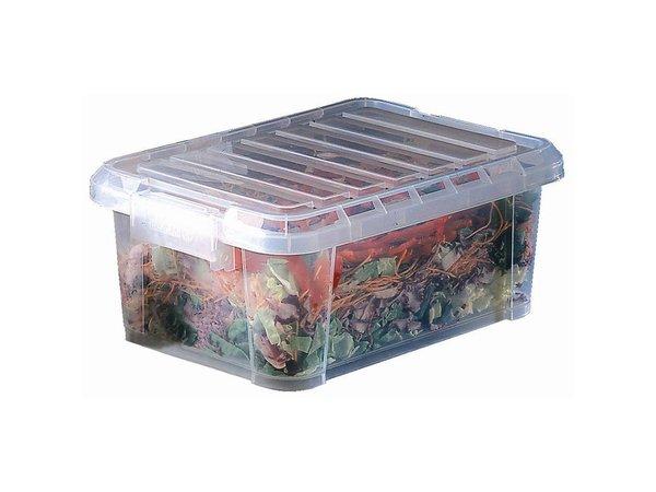 XXLselect Araven Polypropylen Nahrungsmittelkasten | Mit Deckel | 38x26,5x15,5cm | 9 Liter