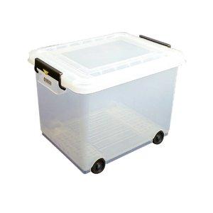 XXLselect Araven Voorraad Container Mobiel | Met Deksel | 40x53x(H)38cm | 50 Liter