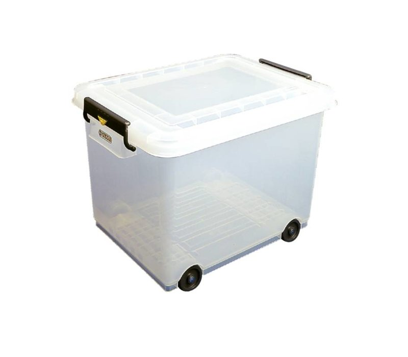 Araven Araven Stock Container Mobile | With Lid | 40x53x (H) 38cm | 50 Liter