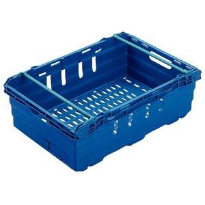 XXLselect Nahrungsmittelbehälter blau | Stapelbar 8 | 60x40x (H) 19,9cm | 35 Liter
