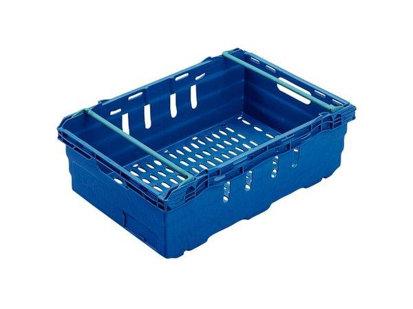 XXLselect Nahrungsmittelbehälter blau   Stapelbar 8   60x40x (H) 19,9cm   35 Liter
