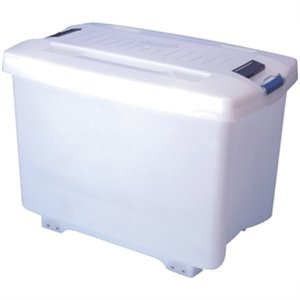 XXLselect Araven Stock Container | With Wheels | 46,5x70,5x (H) 48cm | 90 Liter