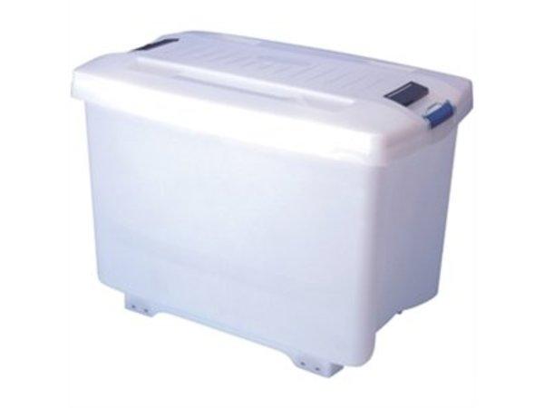 XXLselect Araven Voorraadcontainer | Met Wielen | 46,5x70,5x(H)48cm | 90 Liter