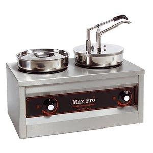 XXLselect Hotpot | Bain-marie and Sauce Dispenser | 2x4,5 Liter | 320W | 43cm High