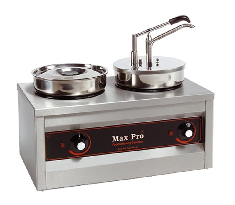 XXLselect Hotpot | Bain-marie and Sauce Dispenser | 2x4,5 Liter | 320W | 43cm High