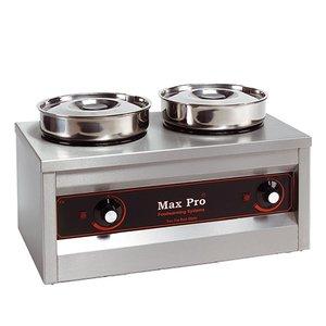 XXLselect Hotpot | Chocolate warmer | 2x4,5 Liter | 29x50x26cm (HxLxW)