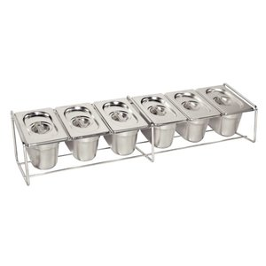 XXLselect GN tray holder Stainless steel - Suitable for 6 x 1/9 - GN 4x 1/6 - GN, 2x 1/3 - GN | 325x176mm