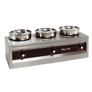 XXLselect Food Warmer | 3x4,5 Liter | 495W | 29x76x26cm (HxLxW)