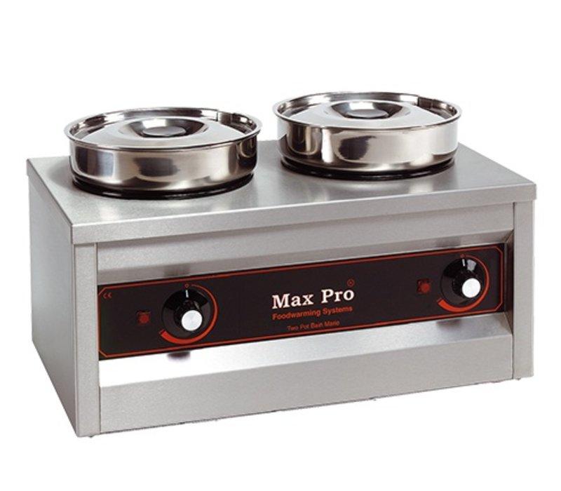 XXLselect Food Warmer | 2x4,5 Liter | 29x50x26cm (HxLxW) | 330W