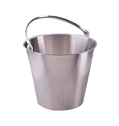 Jantex Edelstahl Eimer 12 Liter
