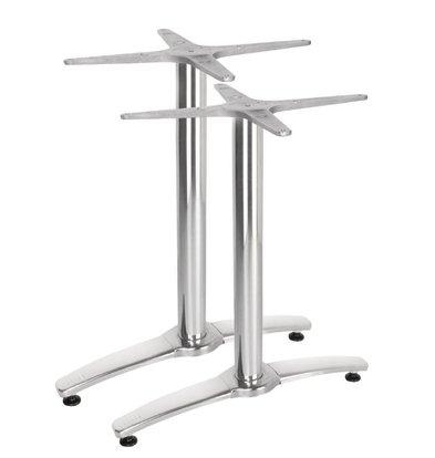 Bolero Doppel Tafelpoot Aluminium - Universal - Hoch 68cm - Tischplatten bis 700x1100mm