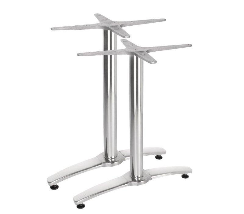 Bolero Double Tafelpoot Aluminum - Universal - High 68cm - tabletops to 700x1100mm