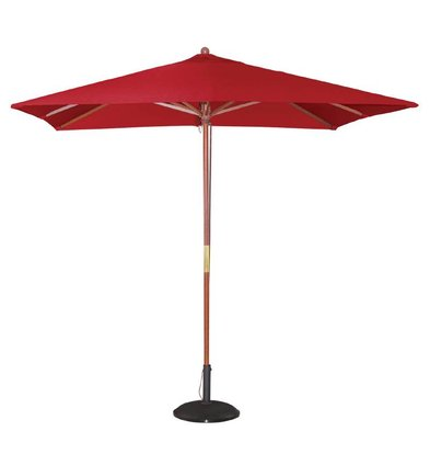 Bolero Parasol Square with Pulley Mechanism - Color Red - 2.5 meter diameter