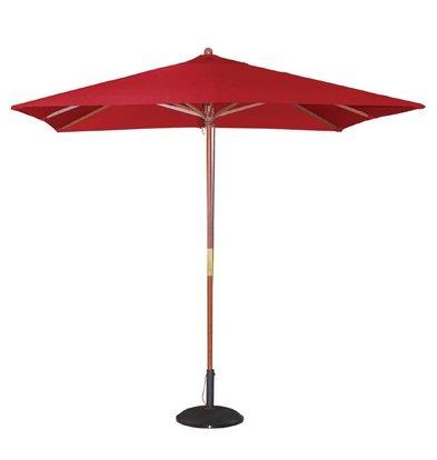 Bolero Sonnenschirm Platz mit Riemenscheiben-Mechanismus - Farbe Rot - 2,5 Meter Durchmesser