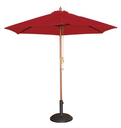 Bolero Sonnenschirm Rund mit Riemenscheiben-Mechanismus - Farbe Rot - 3 Meter Durchmesser