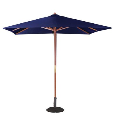 Bolero Parasol Square with Pulley Mechanism - Color Blue - 2.5 m dia