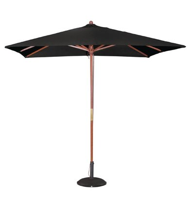 Bolero Parasol Square with Pulley Mechanism - Black - 2.5 meter diameter