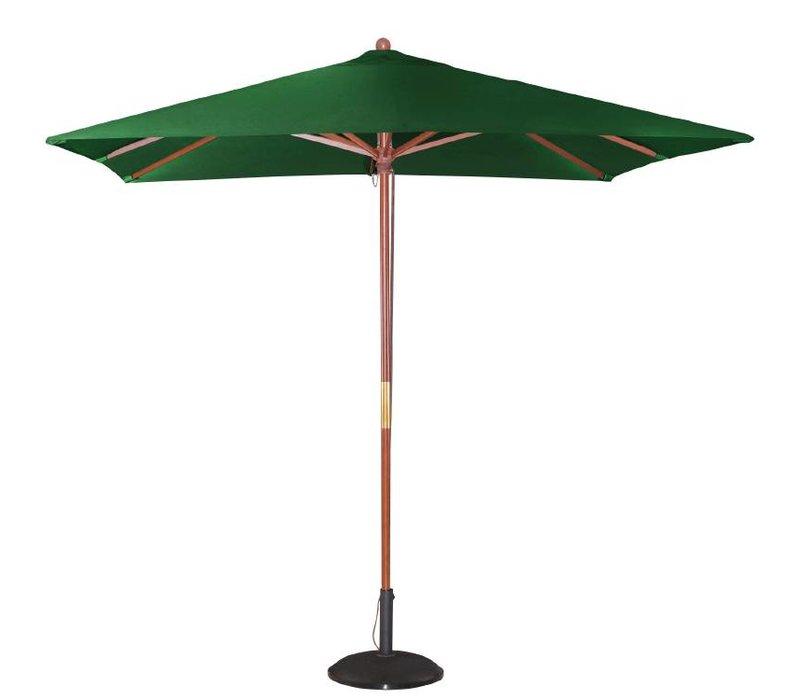 Bolero Parasol Vierkant met Katrolmechanisme - Kleur Groen - 2,5 meter Ø