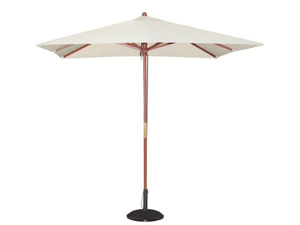 Bolero Sonnenschirm Platz mit Riemenscheiben-Mechanismus - Farbe Creme - 2,5 Meter Durchmesser