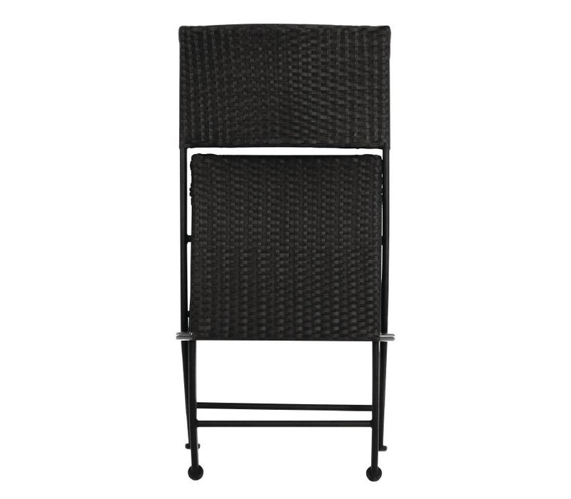 Bolero Foldable Weatherproof Rattan Chair - Price per 2 pieces