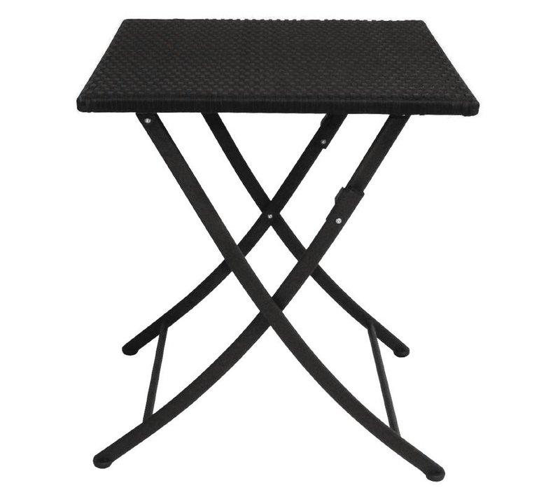 Bolero Folding-Platz Rattan Wetter Tabelle - 71 (h) x60x60cm