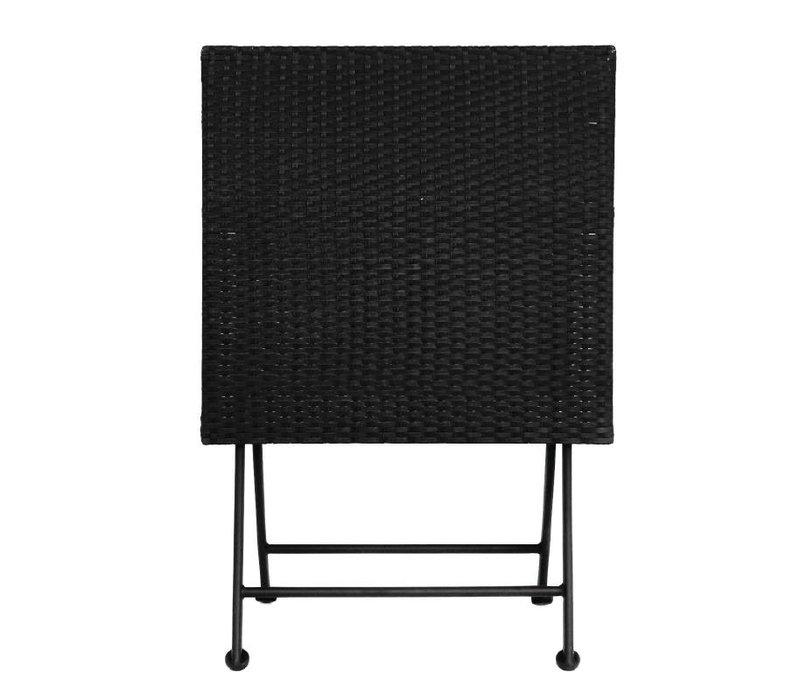 Bolero Folding Square Rattan Weatherproof Table - 71 (h) x60x60cm