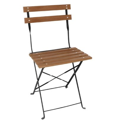 Bolero Folding Wooden Chair Polywood - Price per 2 pieces