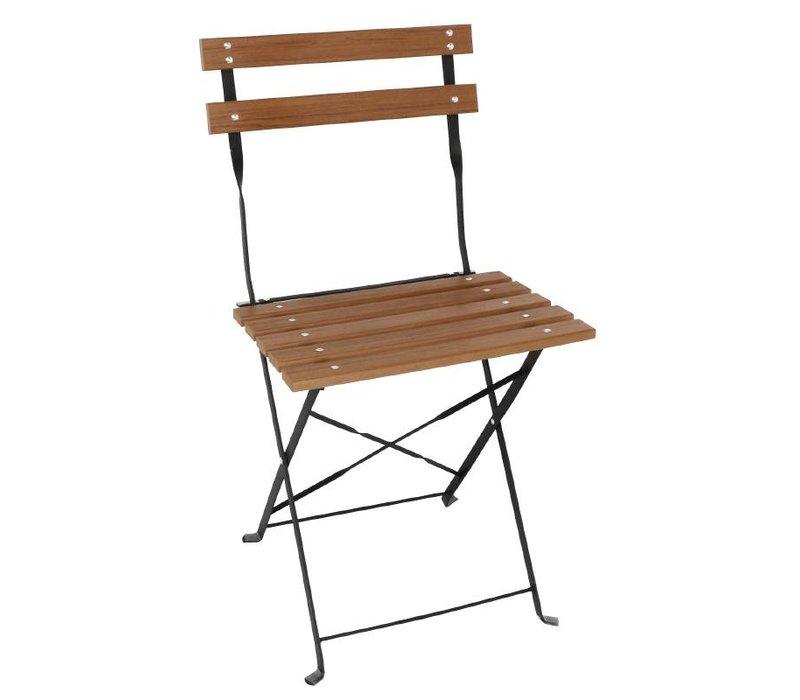 Bolero Folding Holzstuhl Polywood - Preis für 2 Stück