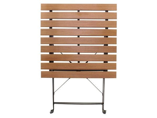 Bolero Polywood Folding Square Wooden Table - 60x60cm