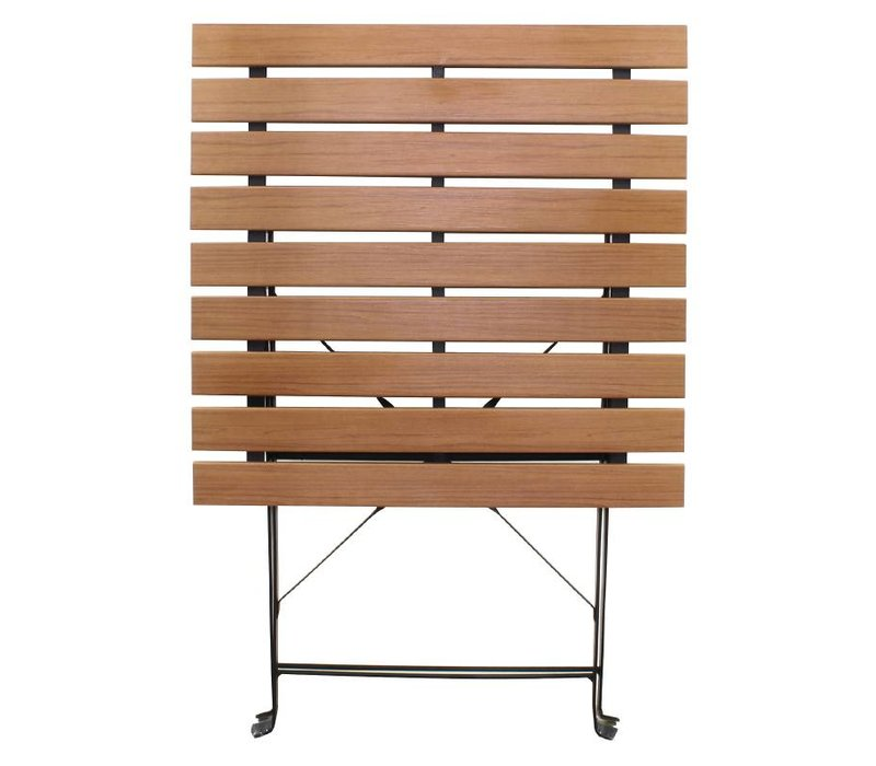 Bolero Opklapbare Vierkante Polywood Houten Tafel - 60x60cm