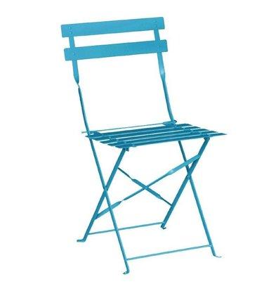 Bolero Opklapbare Stalen Stoel - Kleur Blauw - Prijs per 2 stuks