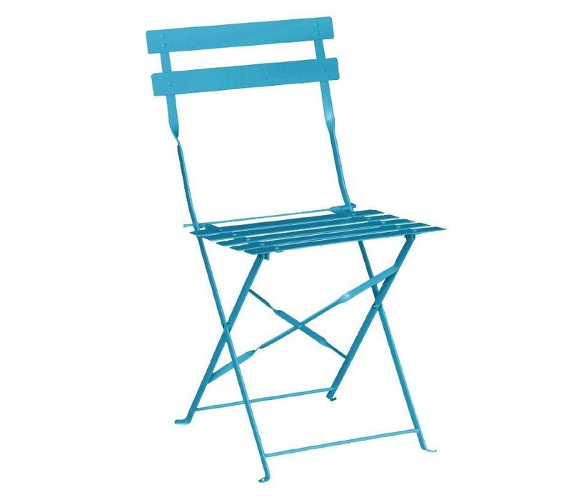 Bolero Stahl Folding Chair - Farbe Blau - Preis für 2 Stück
