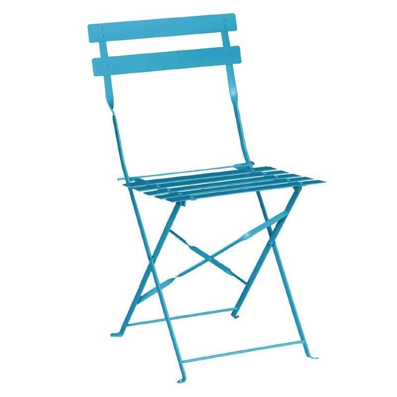 Bolero Steel Folding Chair Color Blue Price per 2 pieces