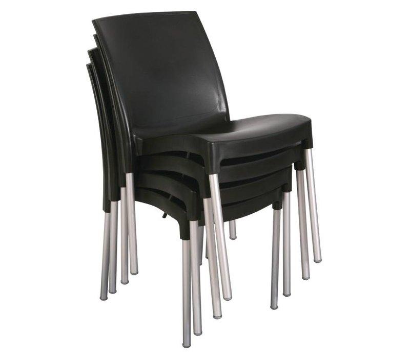 Bolero Stackable Plastic Chair Strong Black - Preis je 4 Stück
