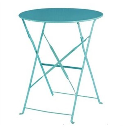 Bolero Hinged Steel Round Table Blue - 71 (H) x60 (Ø) cm
