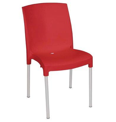 Bolero Stapelsessel Strong Plastic Red - Preis für 4 Stück