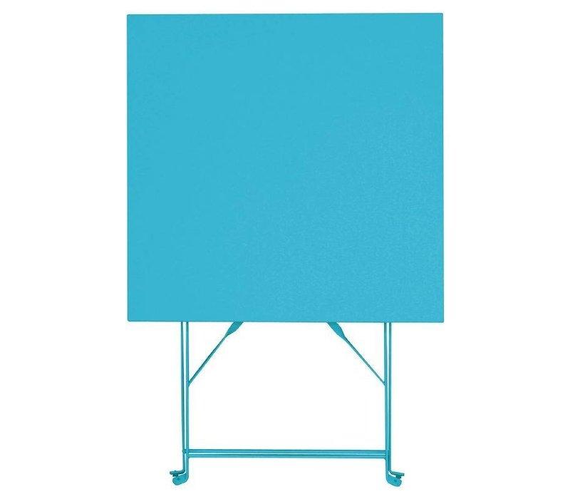 Bolero Opklabare Steel Blue Square Table - 71 (H) x60x60cm