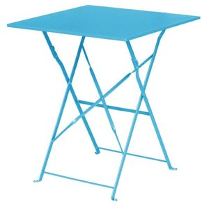 Bolero Opklabare Steel Blue Square Table - 71 (H) x60x60cm
