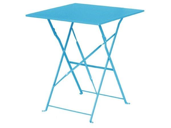 Bolero Opklabare Stahl Blue Square Table - 71 (H) x60x60cm