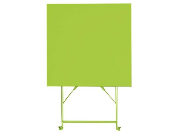Bolero Opklabare Stahl-Platz Tisch Lime Green - 71 (H) x60x60cm