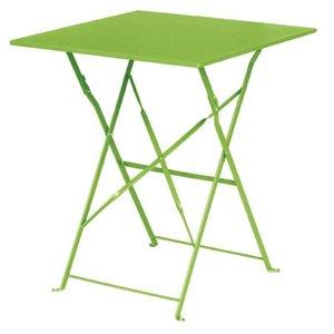Bolero Opklabare Steel Square Table Lime Green - 71 (H) x60x60cm